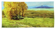 Mountain Autumn - Pastel Landscape Bath Towel by Barry Jones