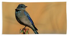 Mountain Bluebird Hand Towel