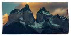 Mountain Evening Hand Towel by Andrew Matwijec