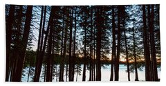 Bath Towel featuring the photograph Mountain Forest Lake by James BO Insogna