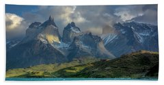 Mountain Glimmer Hand Towel by Andrew Matwijec