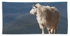 Bath Towel featuring the photograph Mountain Goat by Gary Lengyel