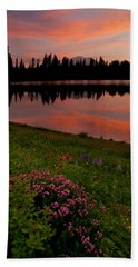 Mountain Heather Reflections Hand Towel
