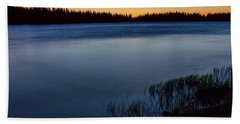 Hand Towel featuring the photograph Mountain Lake Glow by James BO Insogna