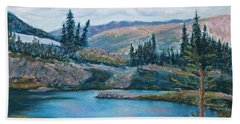 Mountain Lake Hand Towel