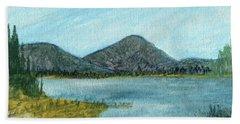 Mountain Lake Bath Towel by R Kyllo