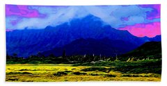Mountain Landscape 1 In Abstract Bath Towel