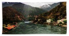 Mountain Landscape  Bath Towel by Manjot Singh Sachdeva