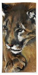 Mountain Lion - Guardian Of The North Bath Towel by J W Baker