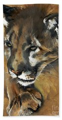 Mountain Lion - Guardian Of The North Hand Towel
