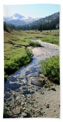 Mountain Meadow And Stream Bath Towel