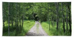 Mountain Meadow Road Bath Towel