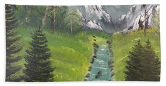 Mountain Meadow Bath Towel by Thomas Janos