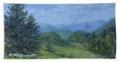 Hand Towel featuring the painting Mountain Meadows by Kathleen McDermott