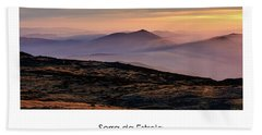 Mountain Mist Poster Bath Towel