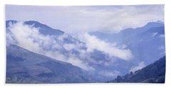 Mountain Pass, France Bath Towel