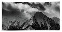 Mountain Peak In Black And White Bath Towel