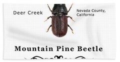 Mountain Pine Beetle Color Hand Towel