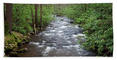 Bath Towel featuring the photograph Mountain Stream Laurel by John Stephens
