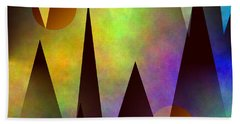 Mountain Sunset Abstract Bath Towel