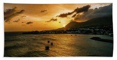 Mountain Sunset At Basseterre, St. Kitts W.i. Bath Towel