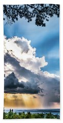 Hand Towel featuring the photograph Mountain Sunset Sightings by Shelby Young