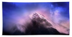 Bath Towel featuring the photograph Mountain Twilight by John Poon