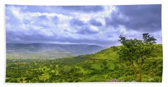 Bath Towel featuring the photograph Mountain View by Charuhas Images