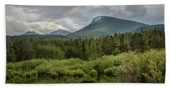 Mountain View From The Marsh Bath Towel