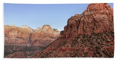 Bath Towel featuring the photograph Mountain Vista At Zion by James Woody