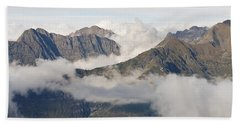 Mountains And Cloud Hand Towel