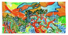 Mountains At Collioure Hand Towel