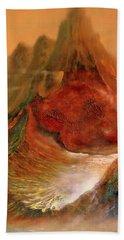 Mountains Fire Bath Towel