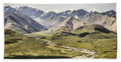Mountains In Denali National Park Hand Towel