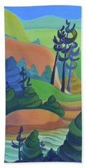 Hills In Spring Hand Towel