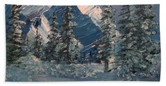 Mountains In Winter Bath Towel