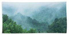 Mountains Scenery In The Mist Bath Towel