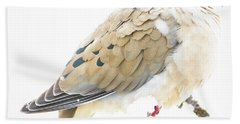 Mourning Dove, Snowy Morning Hand Towel by A Gurmankin
