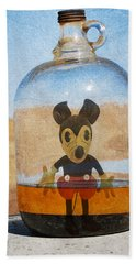 Mouse In A Bottle  Hand Towel by Jerry Cordeiro