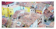 Moustiers Sainte Marie Roofs Bath Towel