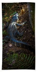 Mr Alley Gator Hand Towel by Marvin Spates