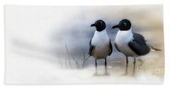 Mr And Mrs Laughing Gull Hand Towel by Mary Lou Chmura