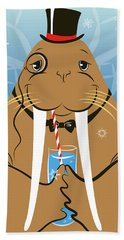 Mr. Walrus Hand Towel