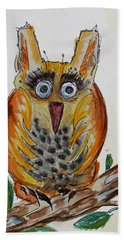 Mr.orange Owl Hand Towel