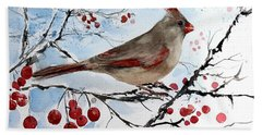 Mrs Red Bird The Visit Hand Towel