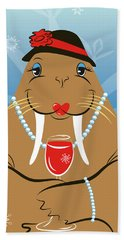 Mrs. Walrus Bath Towel