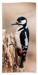 Mrs Woodpecker Hand Towel