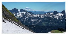 Mt Adams And The Tatoosh Bath Towel