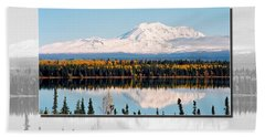 Hand Towel featuring the photograph Mt. Drum - Alaska by Juergen Weiss