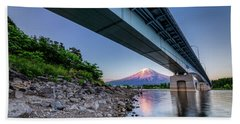 Mt Fuji - Under The Bridge Hand Towel